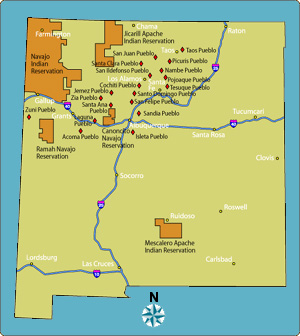 Pueblos New Mexico Map.List Of Northern New Mexico Pueblos To Visit
