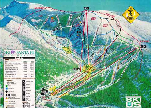 Ski In New Mexico Map.Ski Santa Fe Santa Fe New Mexico Ski Resort Info